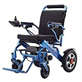 Folding Travel Light Electric Wheelchair Scooter, Air Travel Safety Electric Wheelchair Heavy Electric Wheelchair with Wireless Remote Control