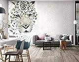 BHXINGMU Wandbild Individuelle Fototapeten Modeleopard Kunsttapeten Große Schlafzimmerwanddekoration 240Cm(H)×330Cm(W)