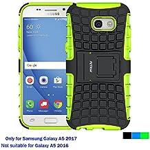 Funda Samsung Galaxy A5 2017, Cáscara Galaxy A5 2017 , Fetrim soporte Proteccion Cáscara Cases delgada de golpes Doble Capa de Tough silicona TPU + plastico Anti Arañazos de Protectora para Samsung Galaxy A5 2017 - Verde