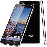 "Landvo XM100 Pro - 3G Smartphone Libre Android 5.1 (Quad Core, Pantalla HD 5.5"", 1280x720, 1Gb Ram, 8Gb Rom, Dual SIM, Smart Wake, GPS WIFI Bluetooth) (Negro)"