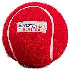 Sportonixx Blaster Heavy Weight Rubber Cricket Tennis Balls,RED