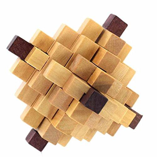 Bescita Neue 3D Holzspielzeug IQ Brain Teaser Erwachsene Pädagogische Kinder Puzzles Bausteine Bauklötze (C)