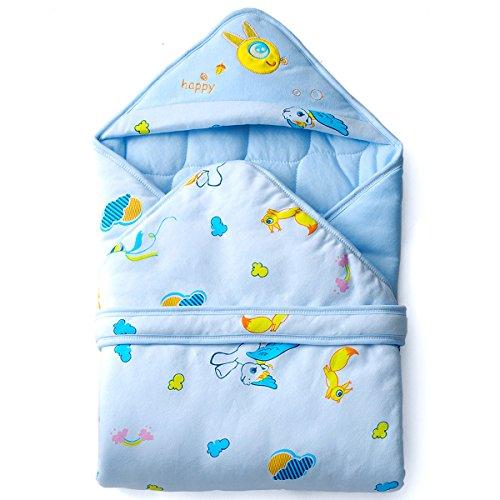 Baby Kapuzenhandtuch / Kapuzentuch 90x90cm, Baby Badetuch mit Kapuze in Weicher 100% Baumwolle, Warm und Kuschliger Baby Einschlagdecke