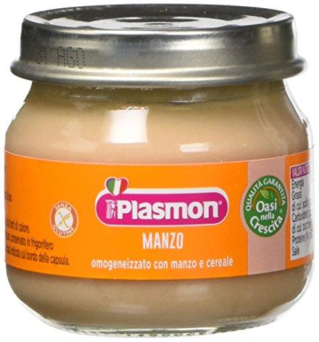 Plasmon omogeneizzato di carne di manzo - 12 vasetti da 80 gr - totale: 960 gr