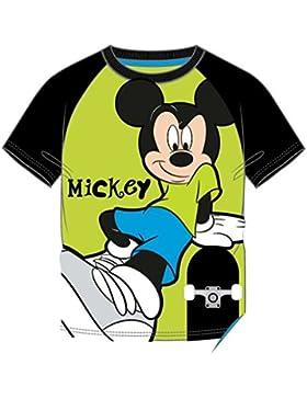 Disney Mickey Mouse Tshirt Sommer 2016 Grün Schwarz (110, Grün Schwarz)