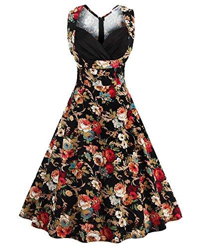 Mujer Vintage Vestido De Fiesta Vestido La Impresión Ocasional Vestid