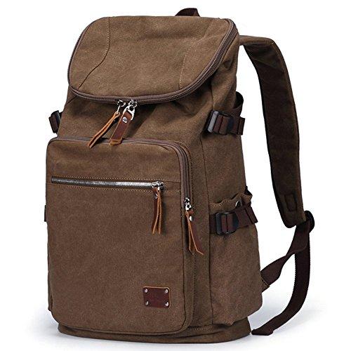 Everdoss Hommes sac à dos en toile sac de l'école sac d'ordinateur jusqu'à 14 pouces sac de voyage de loisirs