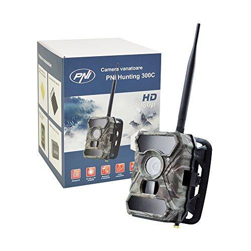 12MP 1080P Jagd Scouting Trail Digitalkamera Wildlife Kamera PNI Hunting 300C IR, Sendet Bilder per E-Mail mit GSM-SIM-Karte per Internet, IP66 Waterproof Class, F=3.0; FOV=100°