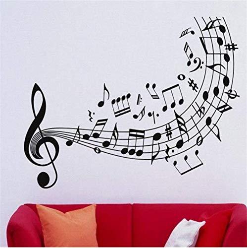 lität Musik Wandtattoo Vinyl Aufkleber Music NotesViolinschlüssel KunstdekorDekoration Wand57 * 88 Cm ()