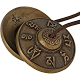 Purpledip Buddhist Tibetan cymbals, chimes, manjeere musical instruments for meditation, prayer (10679)
