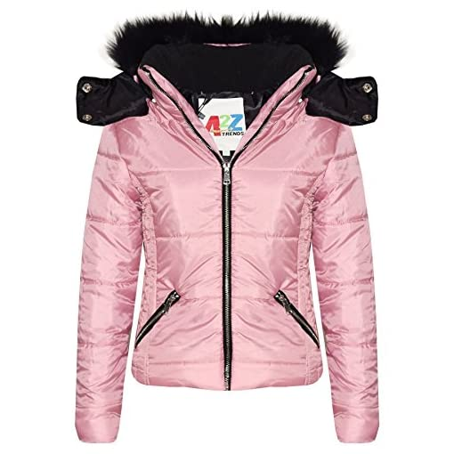 A2Z-4-Kids-Kids-Girls-Jacket-Designers-Baby-Pink-Stylish-Cropped-Padded-Puffer-Bubble-Fur-Collar-Quilted-Warm-Thick-Coat-Jackets-Age-3-4-5-6-7-8-9-10-11-12-13-Years
