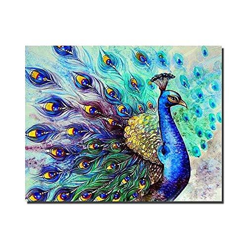 IY Ölgemälde Farbe Durch Nummer 16x20 Zoll Romantische Muster Wohnzimmer Schlafzimmer Büro Wohnkultur Mit Innenrahmen,framedcanvas ()