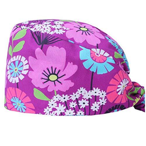 Wukong Paradise 2 Sätze von Frauen Krankenschwester Mütze Hut Arztkappe Beauty Shop Arbeit Mütze (Rosa)