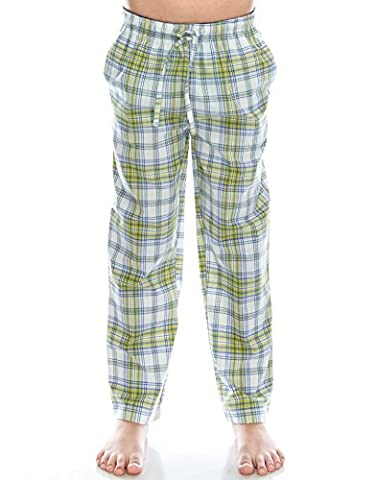 [Free Shipping]TINFL Boys Plaid Check Soft 100% Cotton Flannel Lounge Pants PB-18-Yellow-YS