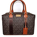 Michael Kors Jet Set Travel Signature Weekender grande/Carry On bolsa