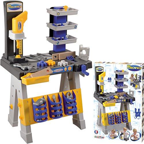 Kinder Werkbank mit Zubehör, 40 Teile, Höhe 74 cm: 74cm Werkzeugbank Spielzeug Werkzeug...
