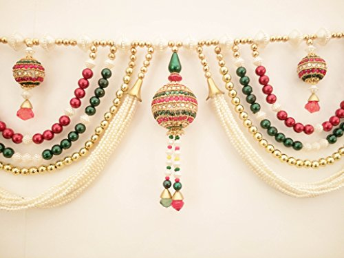 Home Decor - Diwali Decoration - Traditional Multi Zula Pearl Beads Handmade Door Hanging - Toran from JM - Jay Maharaj Handicraft