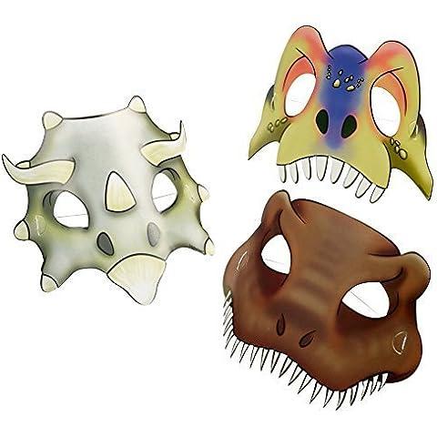 máscaras del partido Dinosaurio Ataque 8 Pieza