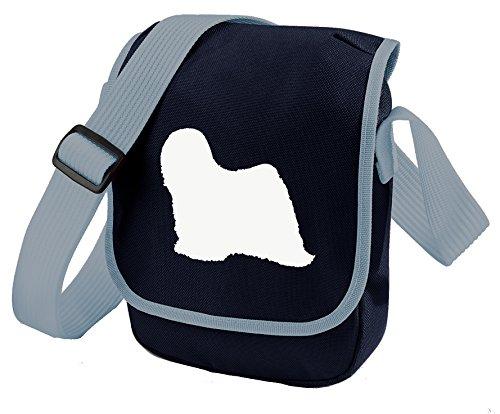 Bag Pixie ,  Unisex Erwachsene Umhängetaschen White Dog Blue Bag