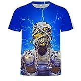 Camisa de compresión para Hombre Iron Maiden Camiseta con Estampado 3D Marca de Moda callejera Código Europeo Ropa para Hombres, L