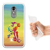 WoowCase ZTE Blade A910 Hülle, Handyhülle Silikon für [ ZTE Blade A910 ] Mehrfarbiger Basketballspieler Handytasche Handy Cover Case Schutzhülle Flexible TPU - Transparent