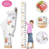 Children Height Chart,Growth Wall Chart, for Boys Girls Measure from Birth to Adult. Bright Designs Bedroom Nursery Wall Decorations (200 cm × 20 cm)