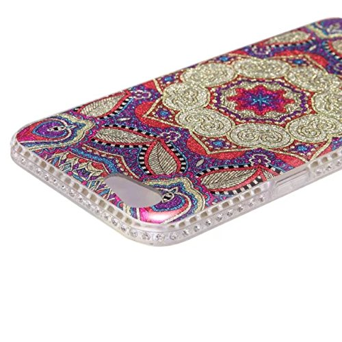 Bling Sparkle Glitter Rhinestone Resin Diamant Schützende Rückseite Cover Case Soft TPU Shell Stoßfänger [Shock Absorbtion] für OPPO A59 F1S ( Color : B ) B