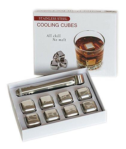 Asking 8 pezzi in acciaio inox ghiaccio pietre del whisky / pietre riutilizzabile - Gift Box