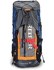 upgrow 60L mochila de senderismo Trekking Bolsa Mochila Mochila Profesional para al aire libre Camping senderismo montañismo escalada viaje con lluvia cubierta naranja