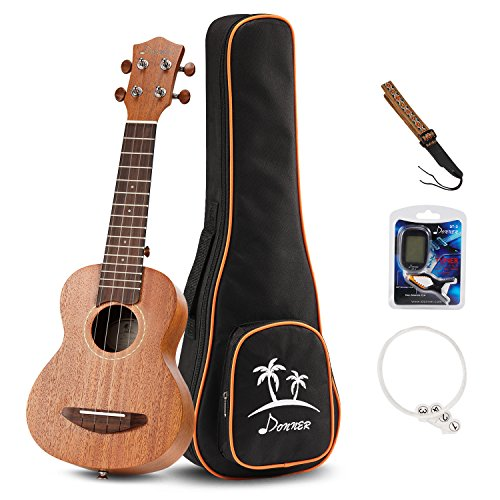Donner DUC-1 Ukulele Concerto 23 pollici Mogano con DT-2 Accordatore a pinza