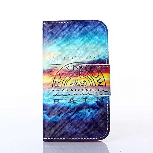 Guran® PU Leder Tasche für Apple iPhone 6 / 6S (4,7 Zoll) Smartphone Flip Deckung Stehen Funktion und Karte Slot Case-Anchors Ruder color1