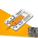 JuneJour Profiltiefenmesser Reifenprofilmesser Profilmesser Tiefenmesser Messchieber Werkzeug für Auto Motorrad Profiltiefenmesser Reifen Maßstab Motorrad Measure Tool 0-20 mm