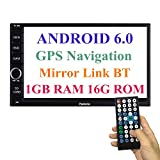 Panlelo Android 6.0 Head Unit Autoradio GPS Navigationsgerät 7 Zoll Auto Radio Touchscreen Bluetooth WIFI Mirror Link SWC Lenkradsteuerung Quad Core 1GB RAM 16GB ROM AM/FM/RDS