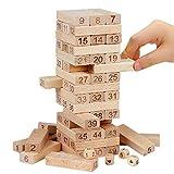 Torri di torri di legno classiche Divertimento in famiglia Giochi educativi Building Blocks Accatastamento giocattolo per bambini di 54 pezzi