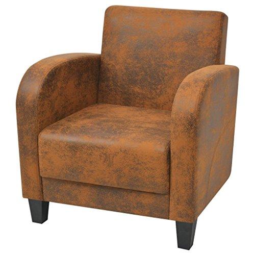 Vidaxl poltrona comoda da salotto sala da pranzo soggiorno marrone divanetto