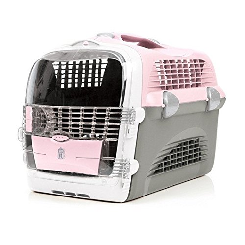 Catit Design Cat Cabrio Carrier Flight/Airline Approved, Pink/Grey/ White