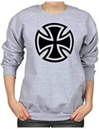 Maltese Cross Symbol Christian Knights Womens Sweatshirt