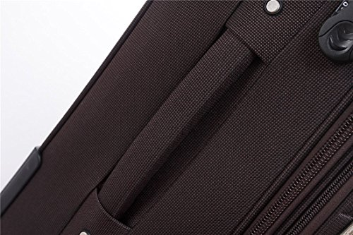BEIBYE 4 Rollen Reisekoffer 3tlg.Stoffkoffer Handgepäck Kindergepäck Gepäck Koffer Trolley Set-XL-L-M (Coffee, M-Handgepäck-54cm) - 7