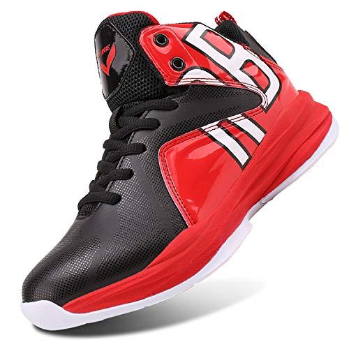 ashion Basketballschuhe Herren Jungen Turnschuhe Kinder Sportschuhe Sneaker Laufschuhe Outdoor Schuhe(B Rot,39 EU)