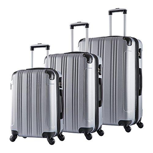 EUGAD #375 Reisekoffer Hartschale Koffer Trolley mit erweiterbare Volumen , Reise Koffer Trolley 4 Rollen , Hartschalenkoffer Handgepäck M/L/XL/Set , leicht...