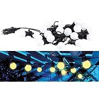 Lunartec Lichterkette Außen: Party-LED-Lichterkette m. 20 LED-Birnen, 6 Watt, IP44, warmweiß, 9,5 m (Lichterketten Partys)