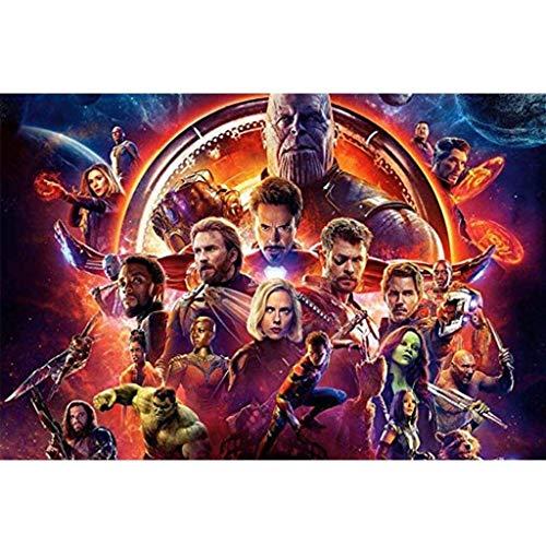 Unbekannt WYF Avengers Puzzles, Holzpuzzle Infinity War Movie Stills, 300/1000 Teile Boxspielzeug Spiel Erwachsene Kinder P611 (Color : G, Size : 500pc) - 300 York Teile New Puzzle