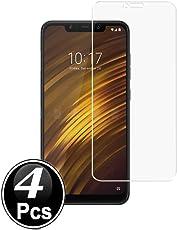 Ferilinso Xiaomi Pocophone F1 Panzerglas Schutzfolie, [4 Pack] Gehärtetes Glas Displayschutzfolie mit Lebenszeit Ersatzgarantie für Xiaomi Pocophone F1 (Transparent)