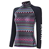 Zhhlinyuan Warm Womens Long Sleeve La natation Diving Top Surf Snorkeling Wetsuit LS-607
