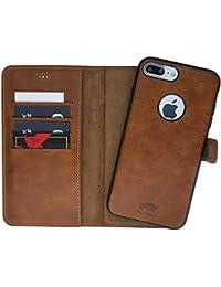 Solo Pelle iPhone 7 Plus / 8 Plus abnehmbare Lederhülle (2in1) inkl. Kartenfächer für das original iPhone 7 Plus / 8 Plus magnetische Hülle Halterung