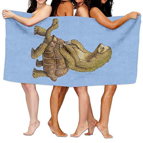 Fedso Sloth Rides On Tortoise - Toalla de baño de Microfibra Ultra...