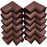 Syga Thick Infant Kids Safety Safe Table Desk Corner Edge Cushions Guard Protectors (Pack of 12, Brown)