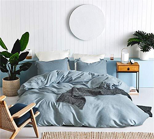 FuweiEncore Tencel Bettwäsche Set, Bettwäsche, Tencel Bettdecke Set, Bettbezug Kissenbezüge Spannbettlaken, blau, King Size (Farbe : -, Größe : Small) (Baumwolle Land Tröster)