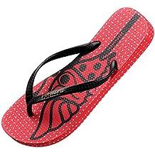 uoody Chanclas Para Mujer e Hombre, Flexible Flip Flop, Zapatillas de Verano Para Piscina y Playa, Flip Flops Bonitos Cómodos e Informales (Rojo 38)