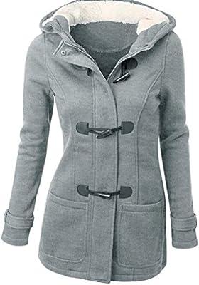 Tongshi Forme a mujeres rompevientos prendas de vestir exteriores de lana delgada caliente larga capa chaqueta del foso